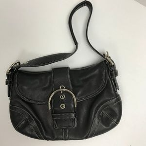 Coach Black Leather Small Soho Hobo Bag